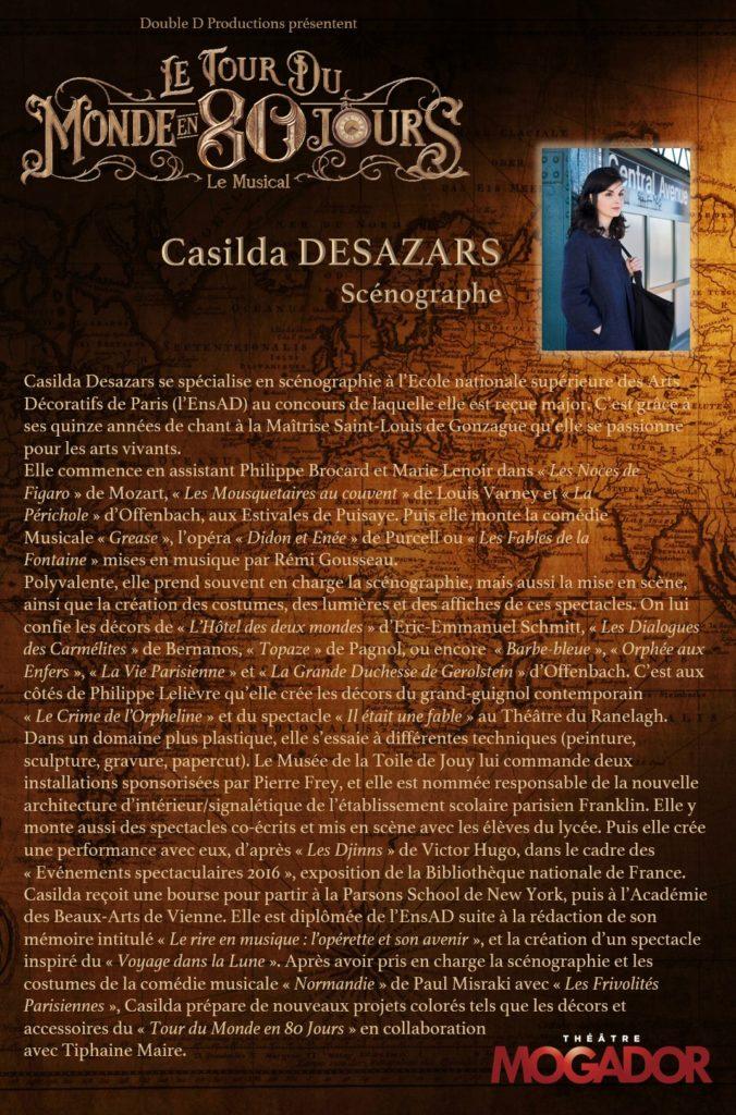 Casilda DESAZARS - Tour du Monde en 80 Jours