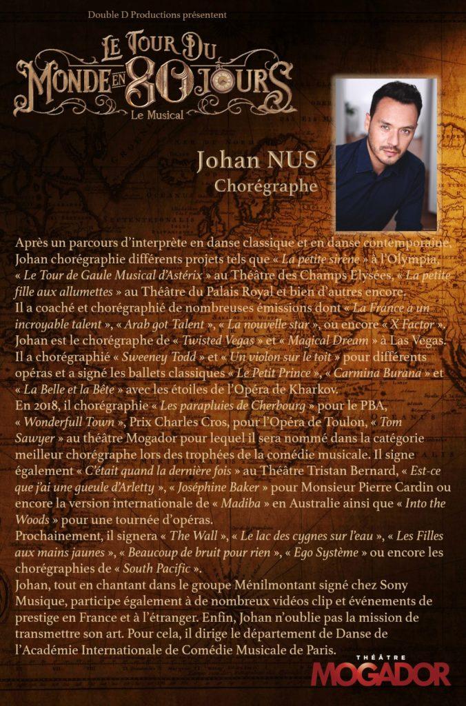 Johan NUS - Tour du Monde en 80 Jours