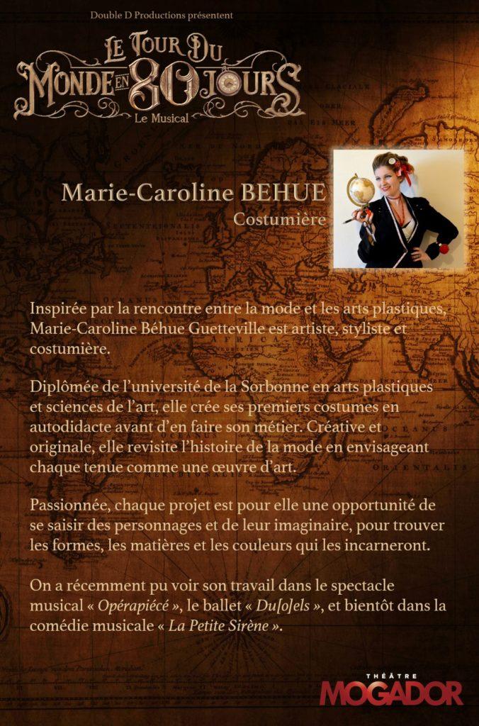 Marie Caroline BEHUE - Tour du Monde en 80 Jours