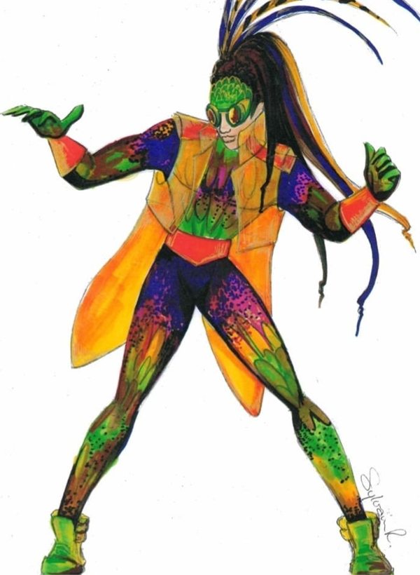 Cirque de Paname - Dessin Costume