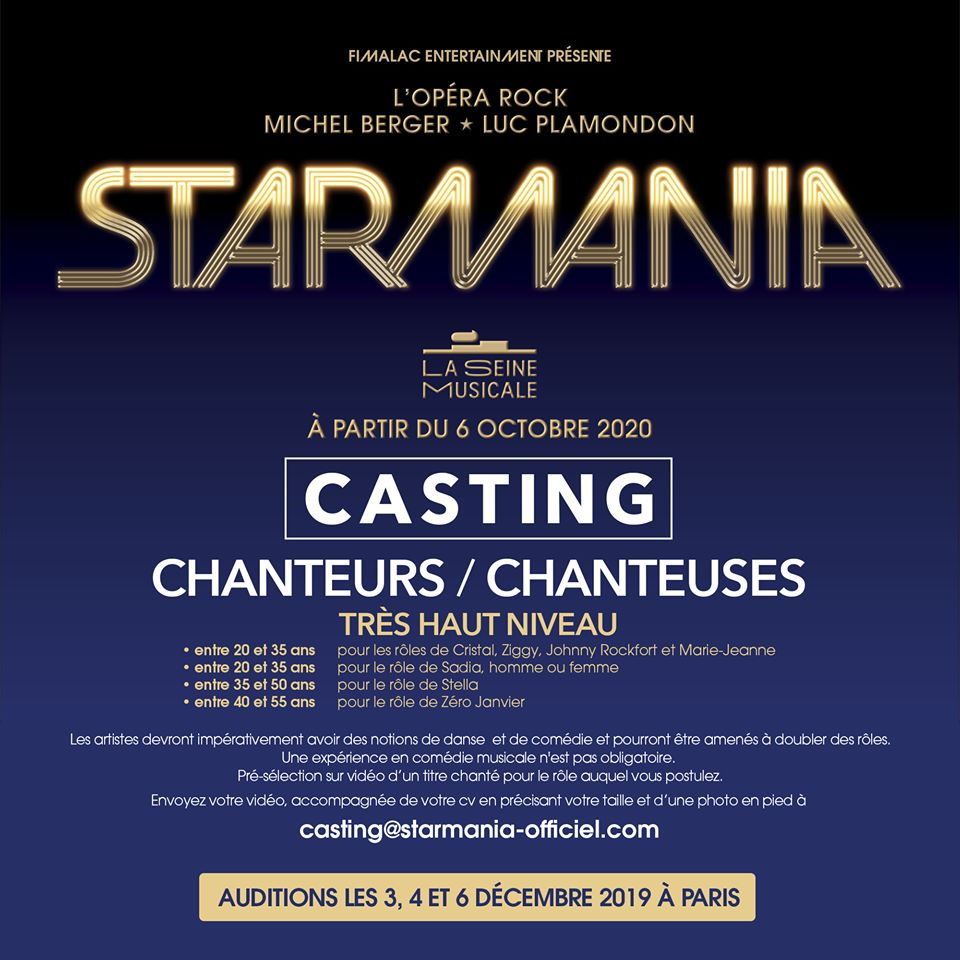 Starmania Auditions