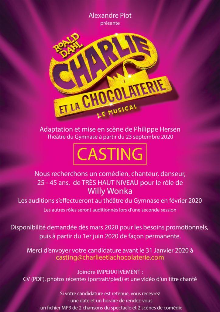 Charlie et la Chocolaterie - Casting 1