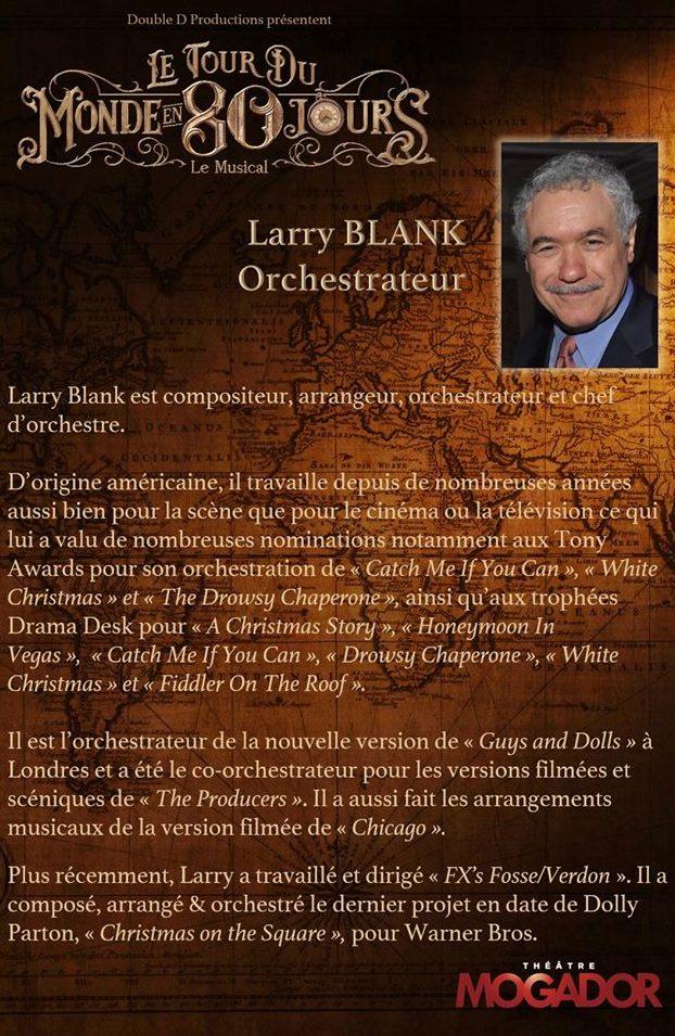 Larry BLANK - Tour du Monde en 80 Jours