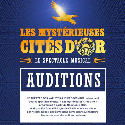 Les Mystérieuses Cités d'Or - Auditions