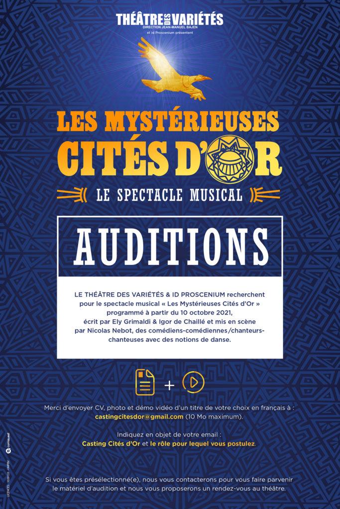 Auditions Les Mystérieuses Cités d'Or