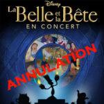 Ciné Concert La Belle et la Bête au Palais des Congrès annulé